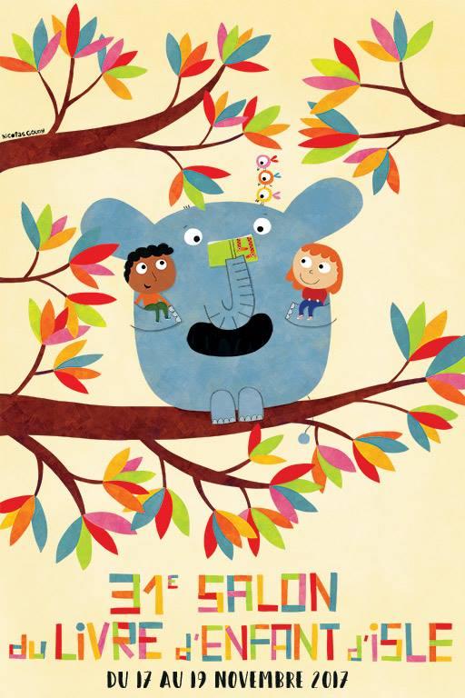 Affiche salon du livre d'enfant d'Isle 2017