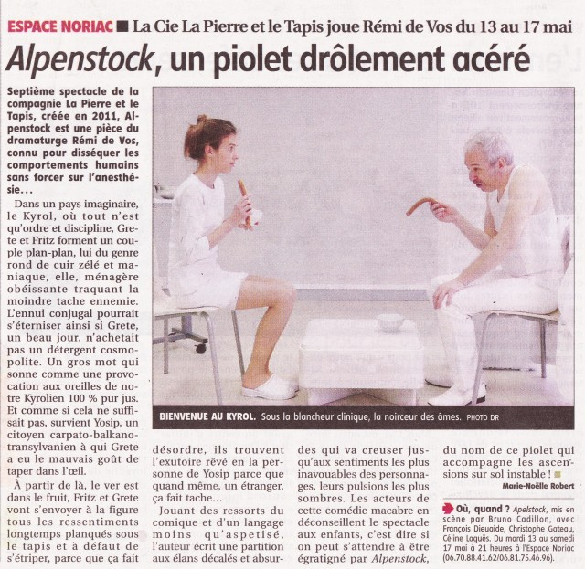 Article Alpenstock Le Populaire du centre 09-05-2014