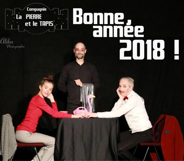Carte de voeux 2018 - Compagnie La Pierre et le Tapis
