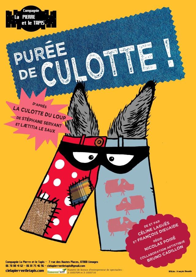 Affiche Purée de culotte - Compagnie La Pierre et le Tapis - Adapte de La Culotte du loup