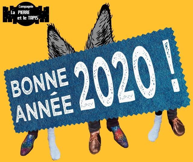 Carte de voeux 2020 - Compagnie La Pierre et le Tapis